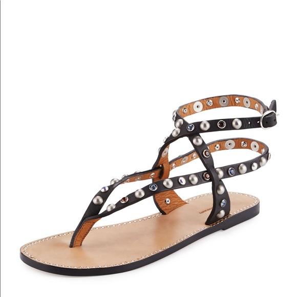 309b36329d9e Isabel Marant Audrio Embellished leather sandals